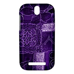 Pretty Purple Patchwork HTC One SV Hardshell Case