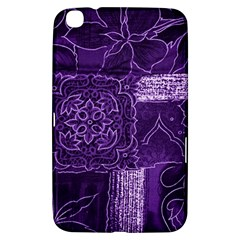 Pretty Purple Patchwork Samsung Galaxy Tab 3 (8 ) T3100 Hardshell Case