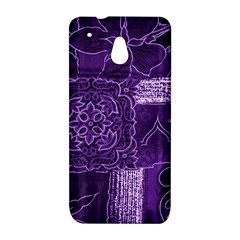 Pretty Purple Patchwork HTC One mini Hardshell Case