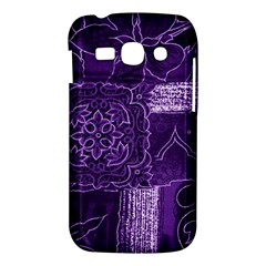 Pretty Purple Patchwork Samsung Galaxy Ace 3 S7272 Hardshell Case