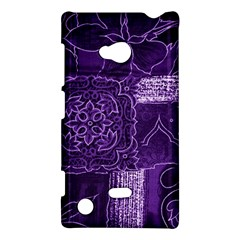 Pretty Purple Patchwork Nokia Lumia 720 Hardshell Case