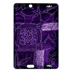 Pretty Purple Patchwork Kindle Fire HD 7  (2nd Gen) Hardshell Case