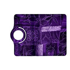 Pretty Purple Patchwork Kindle Fire HD 7  (2nd Gen) Flip 360 Case