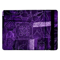 Pretty Purple Patchwork Samsung Galaxy Tab Pro 12.2  Flip Case