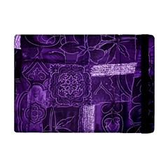 Pretty Purple Patchwork Apple iPad Mini 2 Flip Case