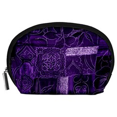 Pretty Purple Patchwork Accessory Pouch (Large)