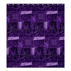 Pretty Purple Patchwork Shower Curtain 66  X 72  (large)