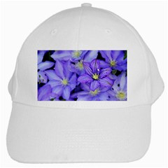 Purple Wildflowers For Fms White Baseball Cap