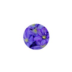 Purple Wildflowers For Fms 1  Mini Button Magnet