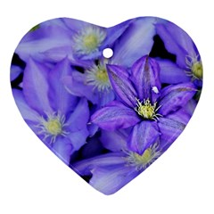Purple Wildflowers For Fms Heart Ornament