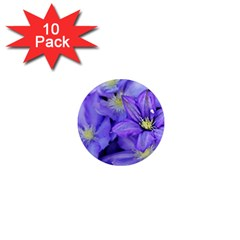 Purple Wildflowers For Fms 1  Mini Button Magnet (10 Pack)