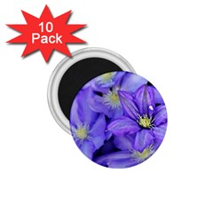 Purple Wildflowers For Fms 1 75  Button Magnet (10 Pack)