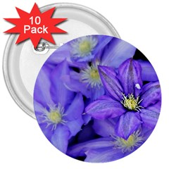 Purple Wildflowers For Fms 3  Button (10 pack)