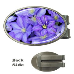 Purple Wildflowers For Fms Money Clip (Oval)