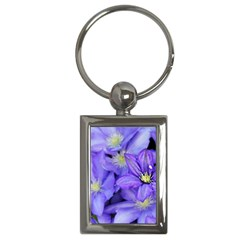 Purple Wildflowers For Fms Key Chain (Rectangle)