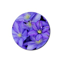 Purple Wildflowers For Fms Drink Coaster (Round)