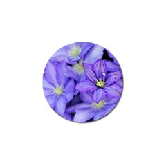 Purple Wildflowers For Fms Golf Ball Marker