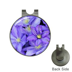Purple Wildflowers For Fms Hat Clip With Golf Ball Marker