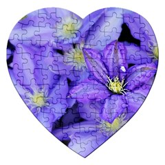 Purple Wildflowers For Fms Jigsaw Puzzle (Heart)
