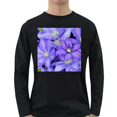 Purple Wildflowers For Fms Men s Long Sleeve T-shirt (Dark Colored)