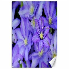 Purple Wildflowers For Fms Canvas 12  x 18  (Unframed)