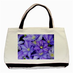 Purple Wildflowers For Fms Twin-sided Black Tote Bag