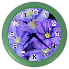 Purple Wildflowers For Fms Wall Clock (color)