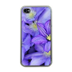 Purple Wildflowers For Fms Apple Iphone 4 Case (clear)