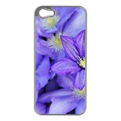 Purple Wildflowers For Fms Apple Iphone 5 Case (silver)
