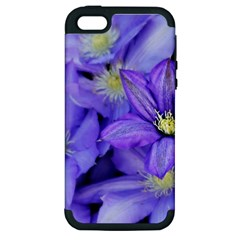 Purple Wildflowers For Fms Apple Iphone 5 Hardshell Case (pc+silicone)