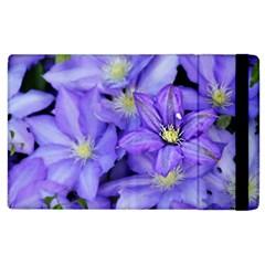 Purple Wildflowers For Fms Apple Ipad 3/4 Flip Case