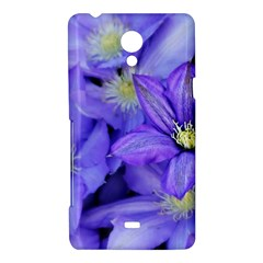 Purple Wildflowers For Fms Sony Xperia T Hardshell Case