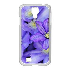 Purple Wildflowers For Fms Samsung Galaxy S4 I9500/ I9505 Case (white)
