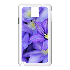 Purple Wildflowers For Fms Samsung Galaxy Note 3 N9005 Case (White)
