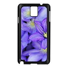 Purple Wildflowers For Fms Samsung Galaxy Note 3 N9005 Case (Black)