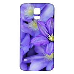 Purple Wildflowers For Fms Samsung Galaxy S5 Back Case (white)