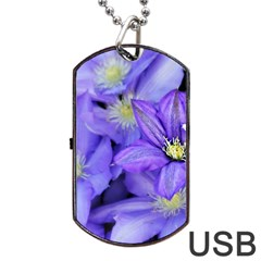 Purple Wildflowers for FMS Dog Tag USB Flash (Two Sides)