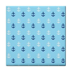 Anchors In Blue And White Ceramic Tile
