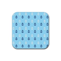 Anchors In Blue And White Drink Coaster (Square)