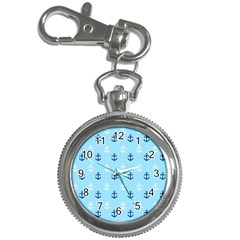 Anchors In Blue And White Key Chain Watch