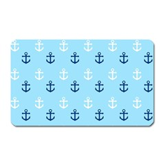 Anchors In Blue And White Magnet (rectangular)