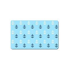 Anchors In Blue And White Magnet (Name Card)