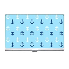 Anchors In Blue And White Business Card Holder