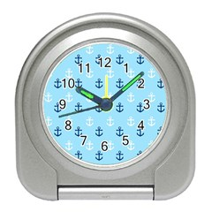 Anchors In Blue And White Desk Alarm Clock