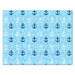 Anchors In Blue And White Jigsaw Puzzle (Rectangle)