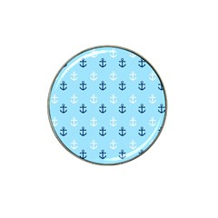 Anchors In Blue And White Golf Ball Marker 4 Pack (for Hat Clip)