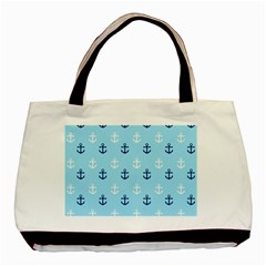 Anchors In Blue And White Classic Tote Bag