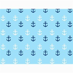 Anchors In Blue And White Canvas 12  x 16  (Unframed)