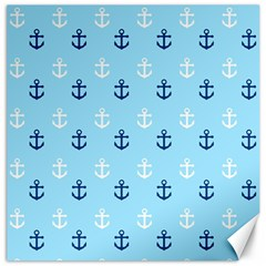 Anchors In Blue And White Canvas 20  X 20  (unframed)