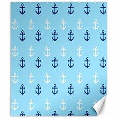 Anchors In Blue And White Canvas 20  X 24  (unframed)